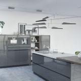 Кухня из пластика «Олдвин»