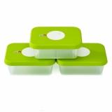 Набор контейнеров для хранения продуктов датируемый Dial прямоугольный 3 шт (3х1л)