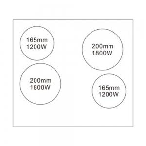 Стеклокерамическая варочная поверхность Weissgauff HV 640 BS